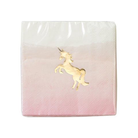 We ❤ Unicorns Cocktail Napkins