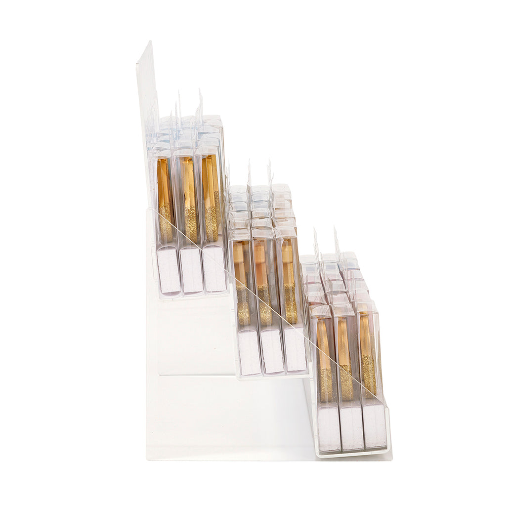 Gold Glitter Number Birthday Candles Starter Set with VM Acrylic Stand  - Numbers 0-9