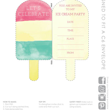 Talking Tables Printable - We Heart Ice Cream