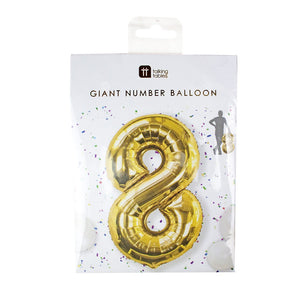 Talking Tables We Heart Birthdays Foil '8' Balloon