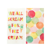 Talking Tables We Heart Ice Cream Double Napkins