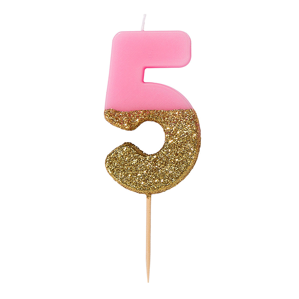 We Heart Birthdays Glitter Candle - 5