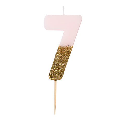 We Heart Birthdays Glitter Candle - 7