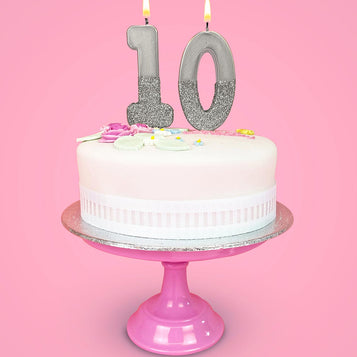 Image - We Heart Birthdays Silver Number Candles Starter Pack
