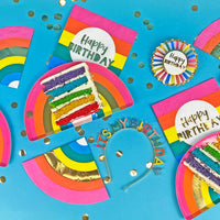 Birthday Brights Rainbow Happy Birthday Napkins