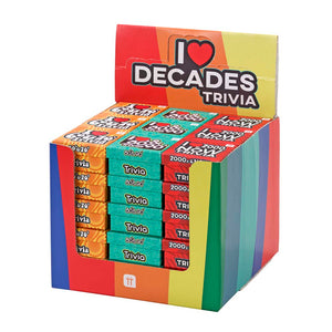 Talking Tables Decades Trivia POS