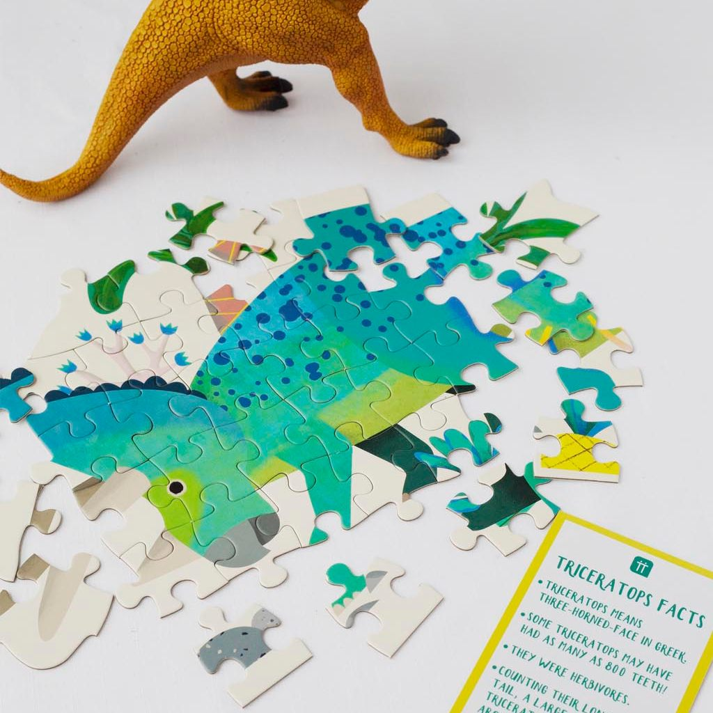 Party Dinosaur Triceraptops Shaped Puzzle 62 Pieces