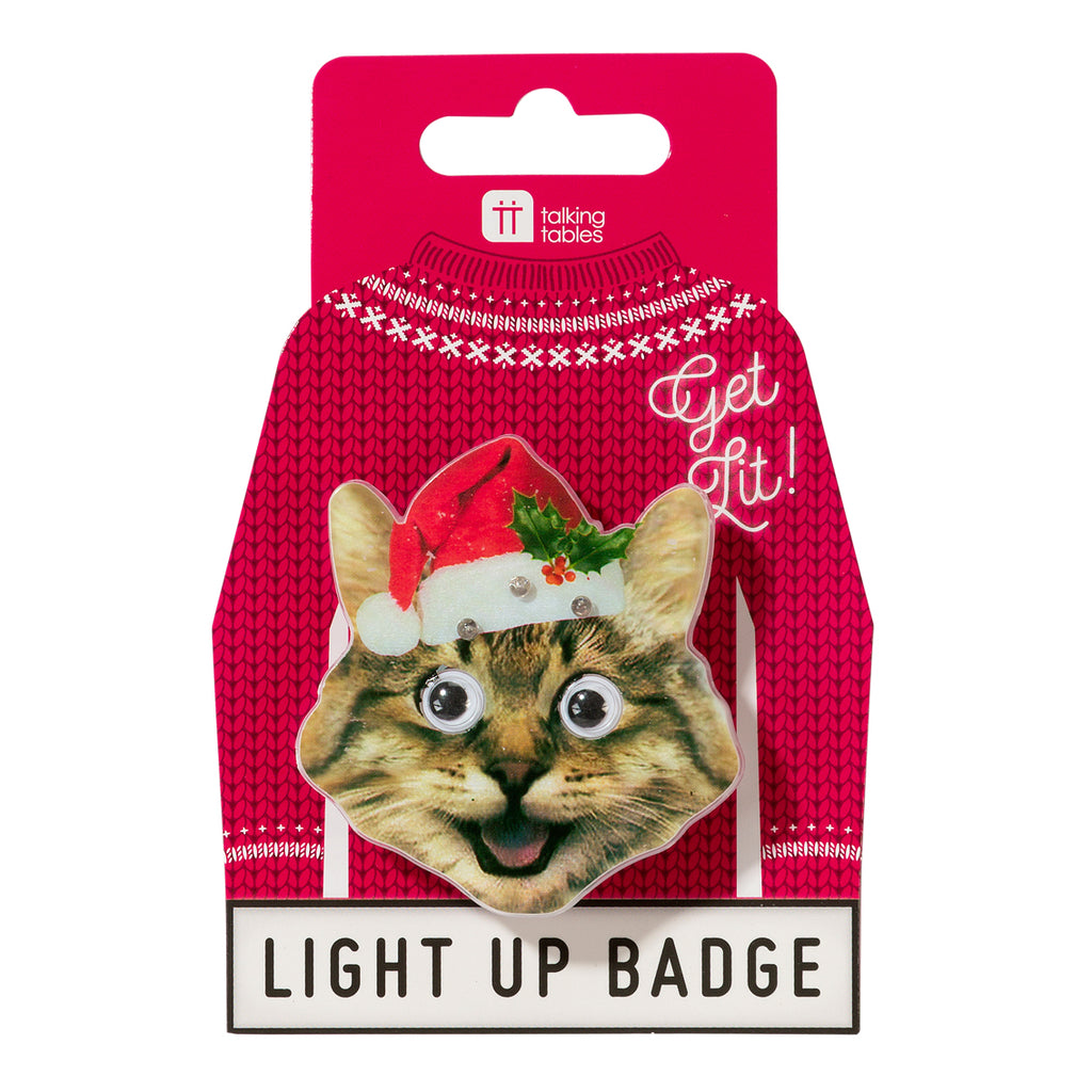 Christmas Entertainment Light Up LED Badges