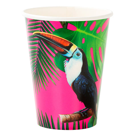Tropical Fiesta Bright Paper Cups