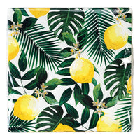 Tropical Palm Lemon Napkins