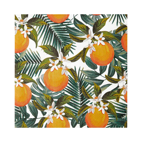 Tropical Palm & Oranges Napkins (Pack of 20) - Talking Tables