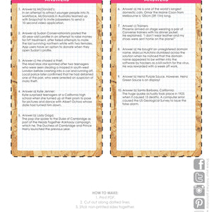 Talking Tables Printable - Host Your Own Quirk Pub Quiz In other News HOST-QUIRK-QUIZ