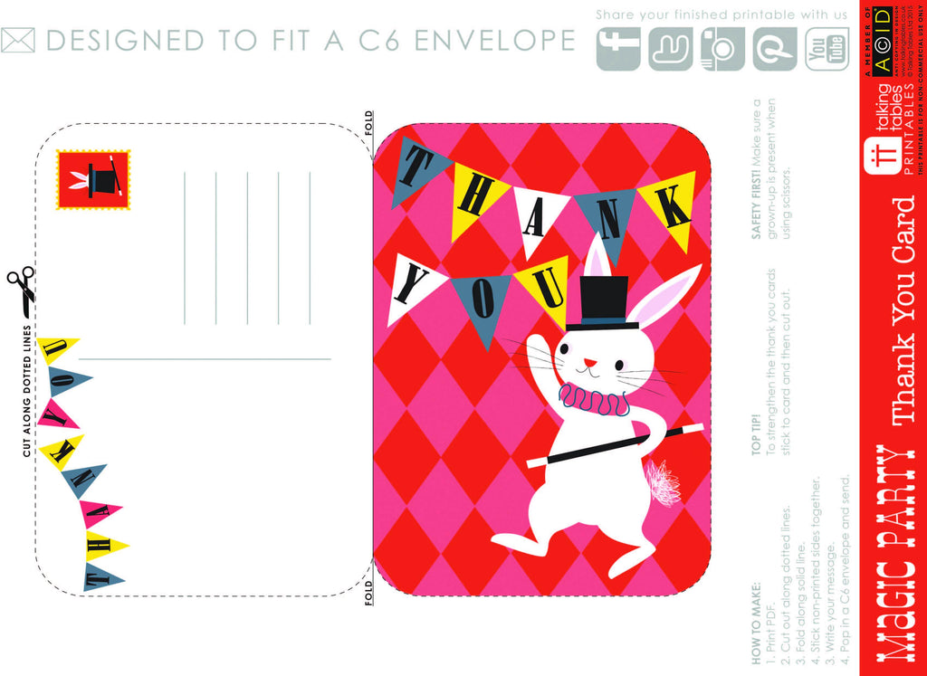 Talking Tables Printable - Magic Party