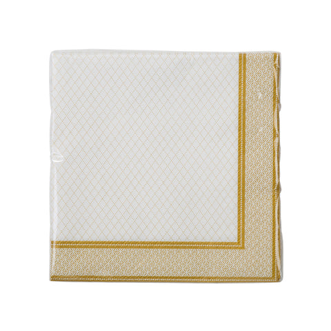 Image - Party Porcelain Gold Cocktail Napkin