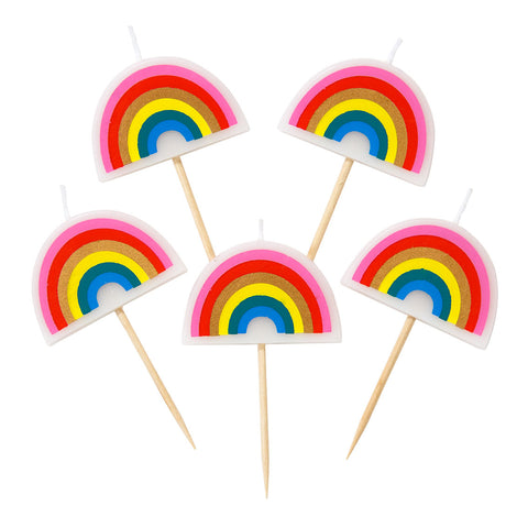 Rainbow Brights Rainbow Shaped Candles