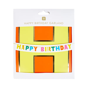 Birthday Brights Rainbow Happy Birthday Garland