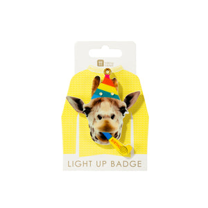 Talking Tables Birthday Brights Giraffe LED Badge
