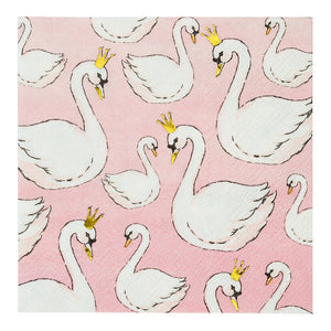 We Heart Swans Cocktail Napkins