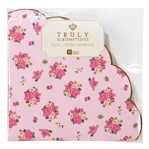 Truly Scrumptious Scalloped Edge Napkins