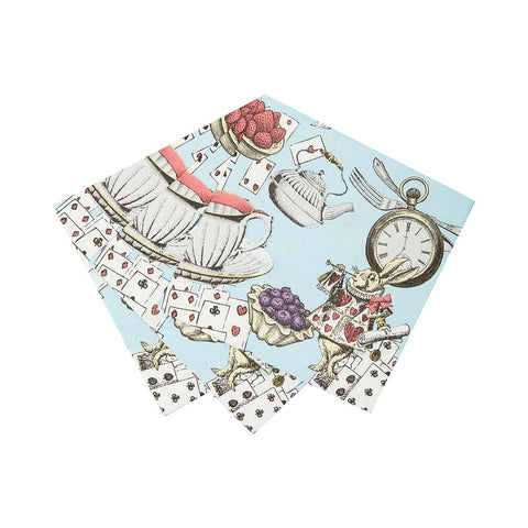 Alice in Wonderland Cocktail Napkins (Pack of 20) - Talking Tables