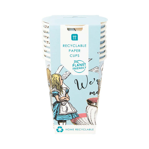 Alice in Wonderland Paper Cups