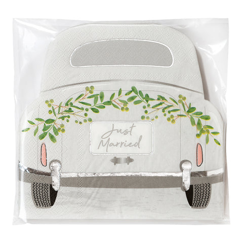 Botanical Bride Car Shaped Napkins