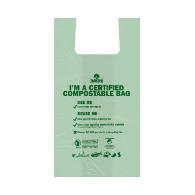 Plastic Shoppers - Compostable