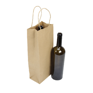 Paper Bottle Bags (Twist Handle) - Kraft