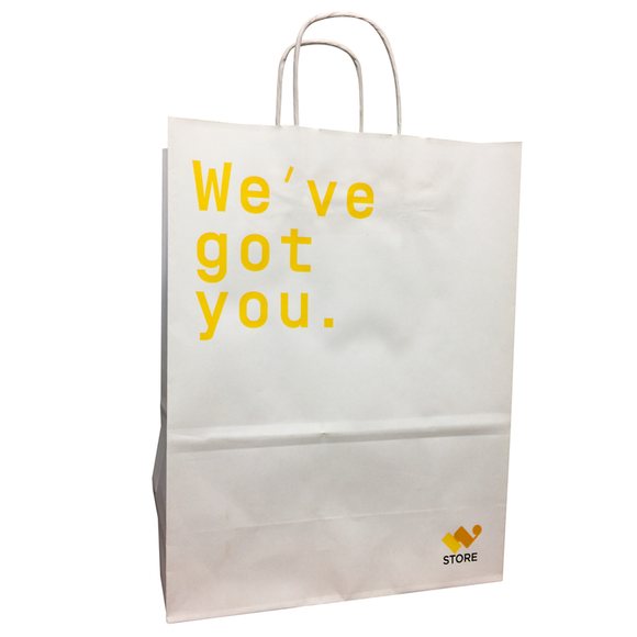 We've got you. Paper Bags