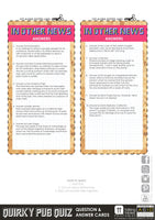 Printable - Quirky Pub Quiz - Talking Tables US Public