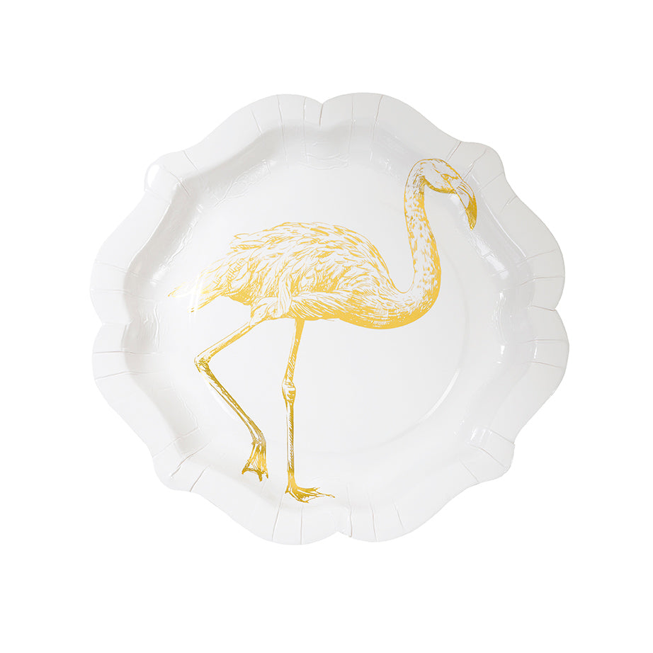 Party Porcelain Curiosities Gold Foil Plates