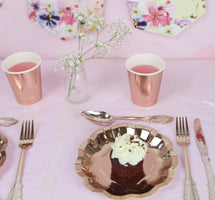 Party Porcelain Rose Gold Small Plates - Talking Tables US Public