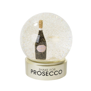 Talking Tables prosecco snow globe