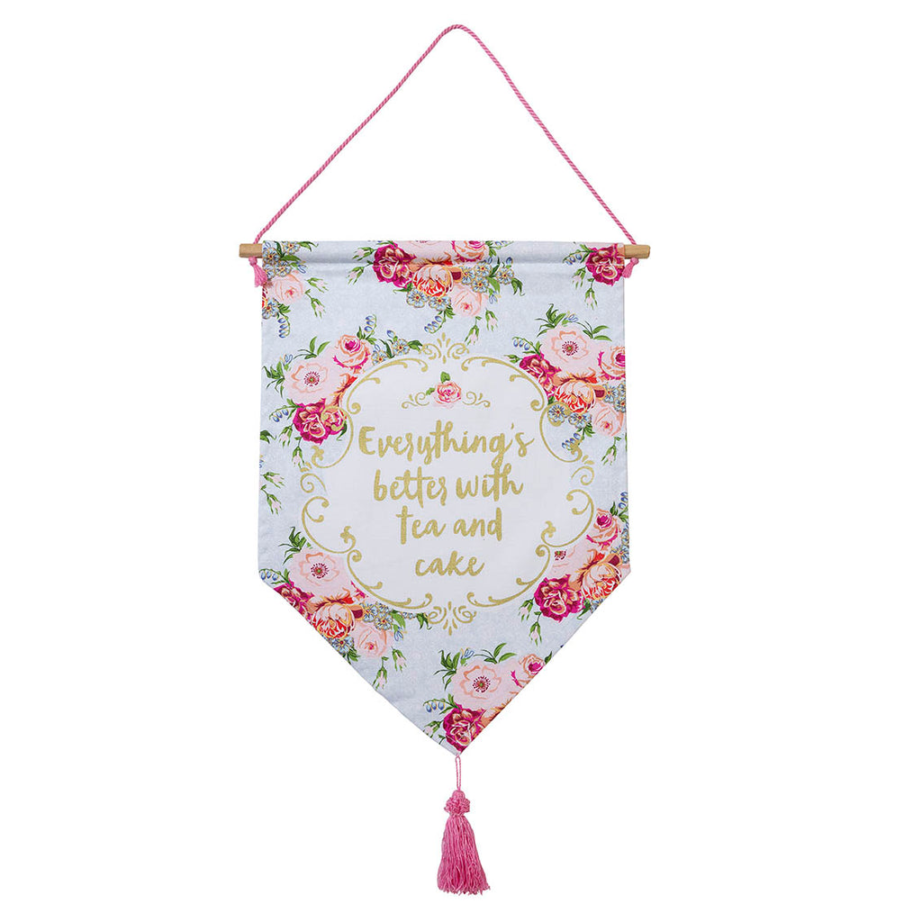 Truly Scrumptious Tea Party Banner