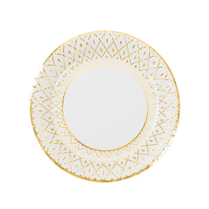Party Porcelain Gold Medium Paper Plates