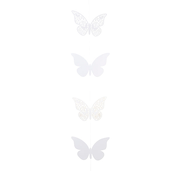 Something in the Air White Butterfly Hanging Garland