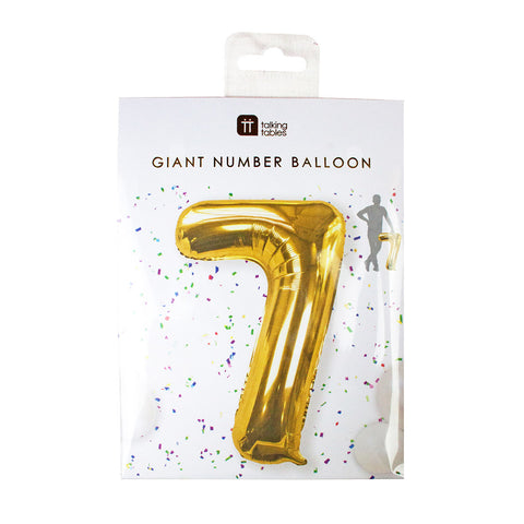 Talking Tables we heart birthday number 7 foil balloon 34 inch