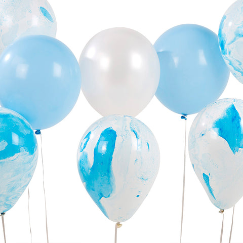 Talking Tables we heart blue marble balloons 12pk
