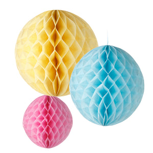 Talking Tables decadent decs honeycomb pastel mix size 3 pack