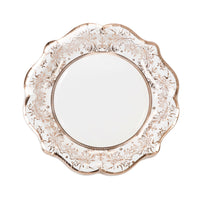 Talking Tables party porcelain rose gold plate