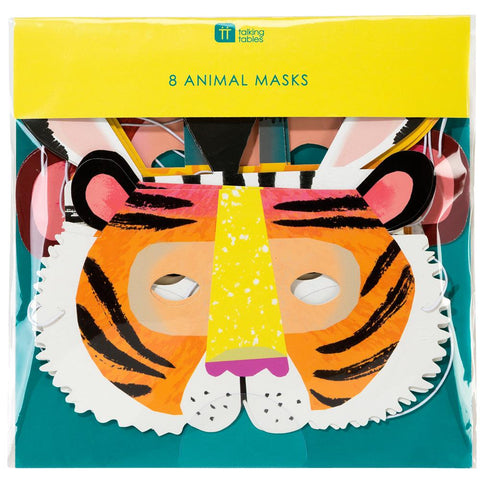 Talking Tables party animal paper masks w elastic 8pk