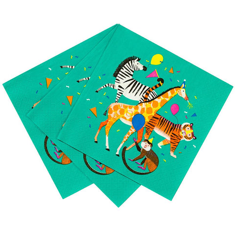 Talking Tables party animals l napkin 33cm 20pk