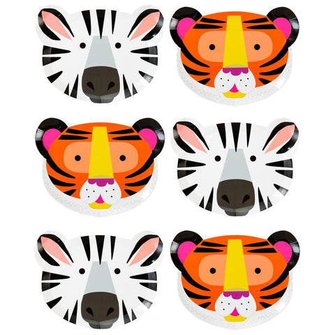 Party Animals Animal Face Plates - Talking Tables US Public