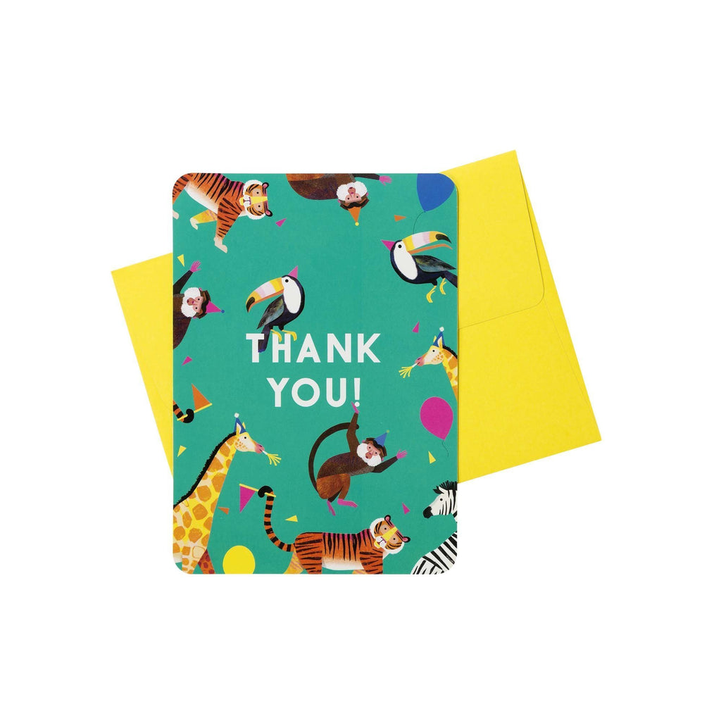 Talking Tables party animals thank you cards