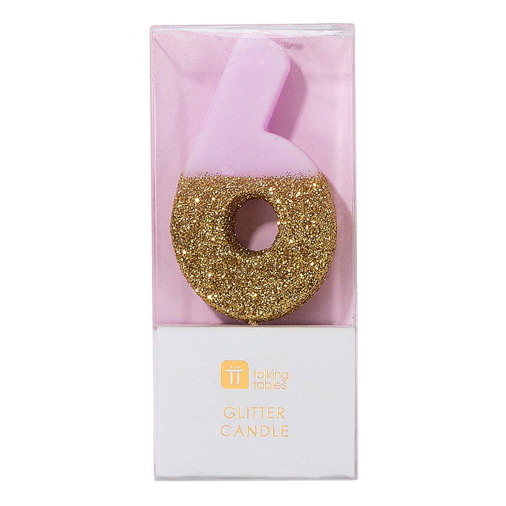 We Heart Birthdays Glitter Candle - 6