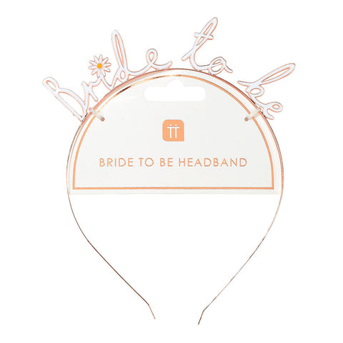 Blossom Girls Bride To Be Headband - Talking Tables US Public