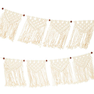 Cream Macrame Garland, 1.3m (Pack of 1) - Talking Tables