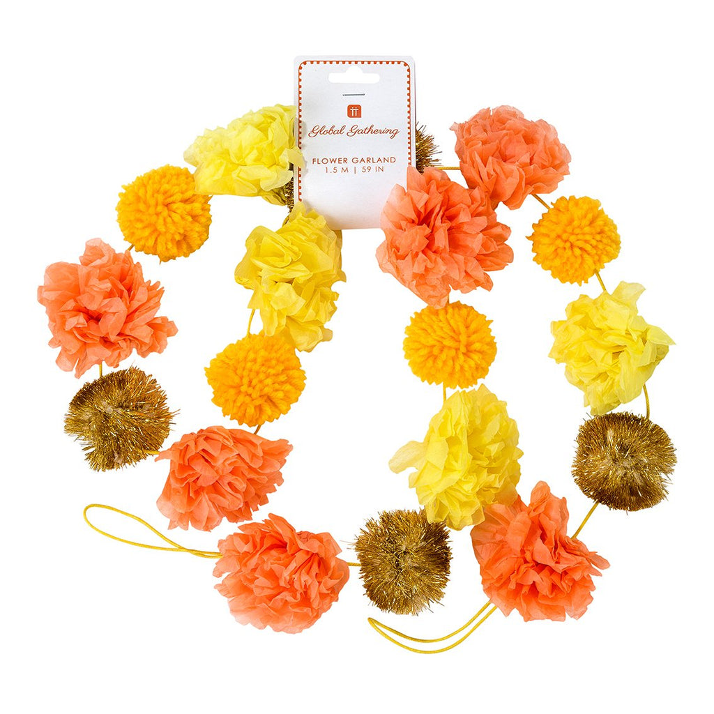 Boho Spice Pom Pom Garland - Talking Tables US Public