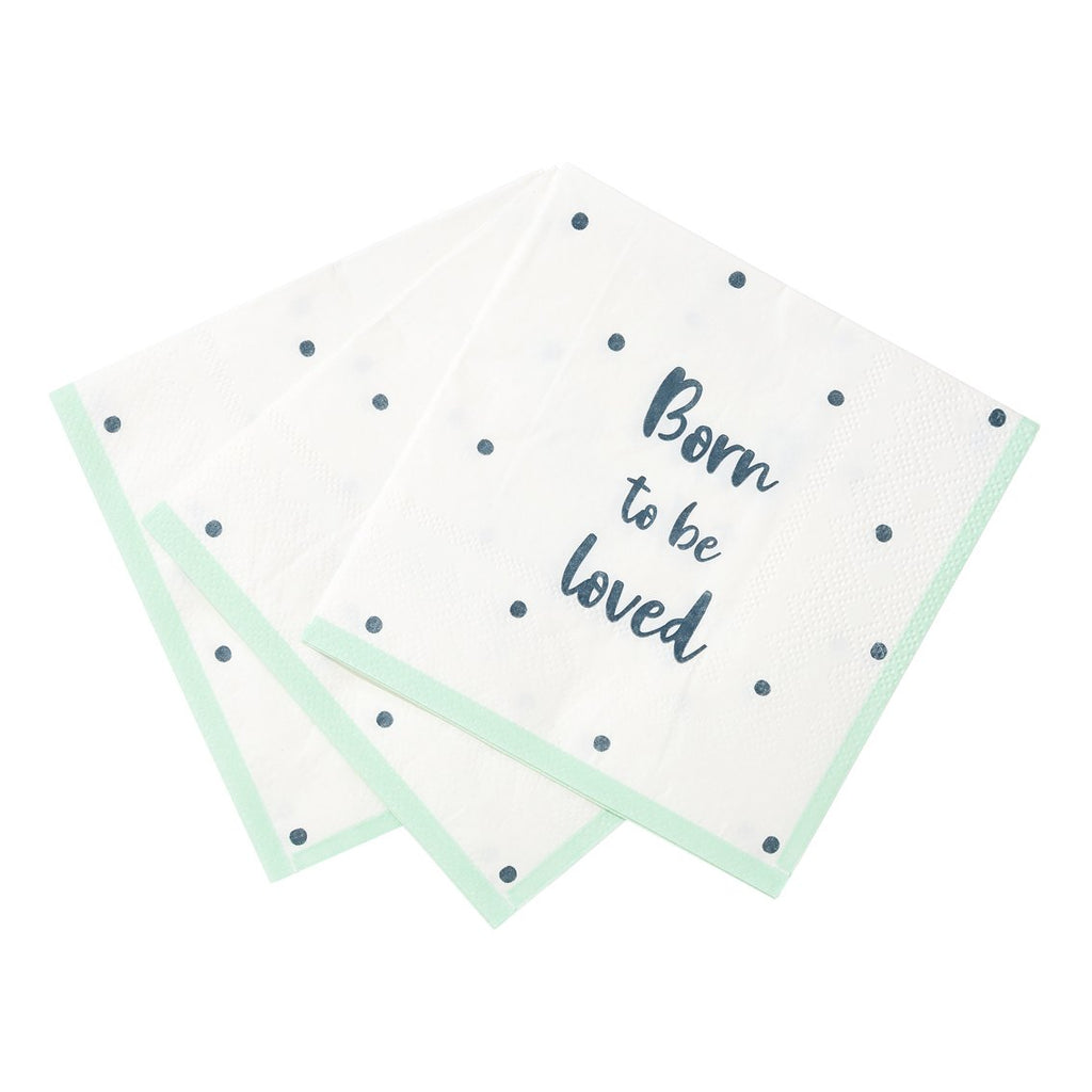 Born To Be Loved Cocktail Napkin - Talking Tables US Public