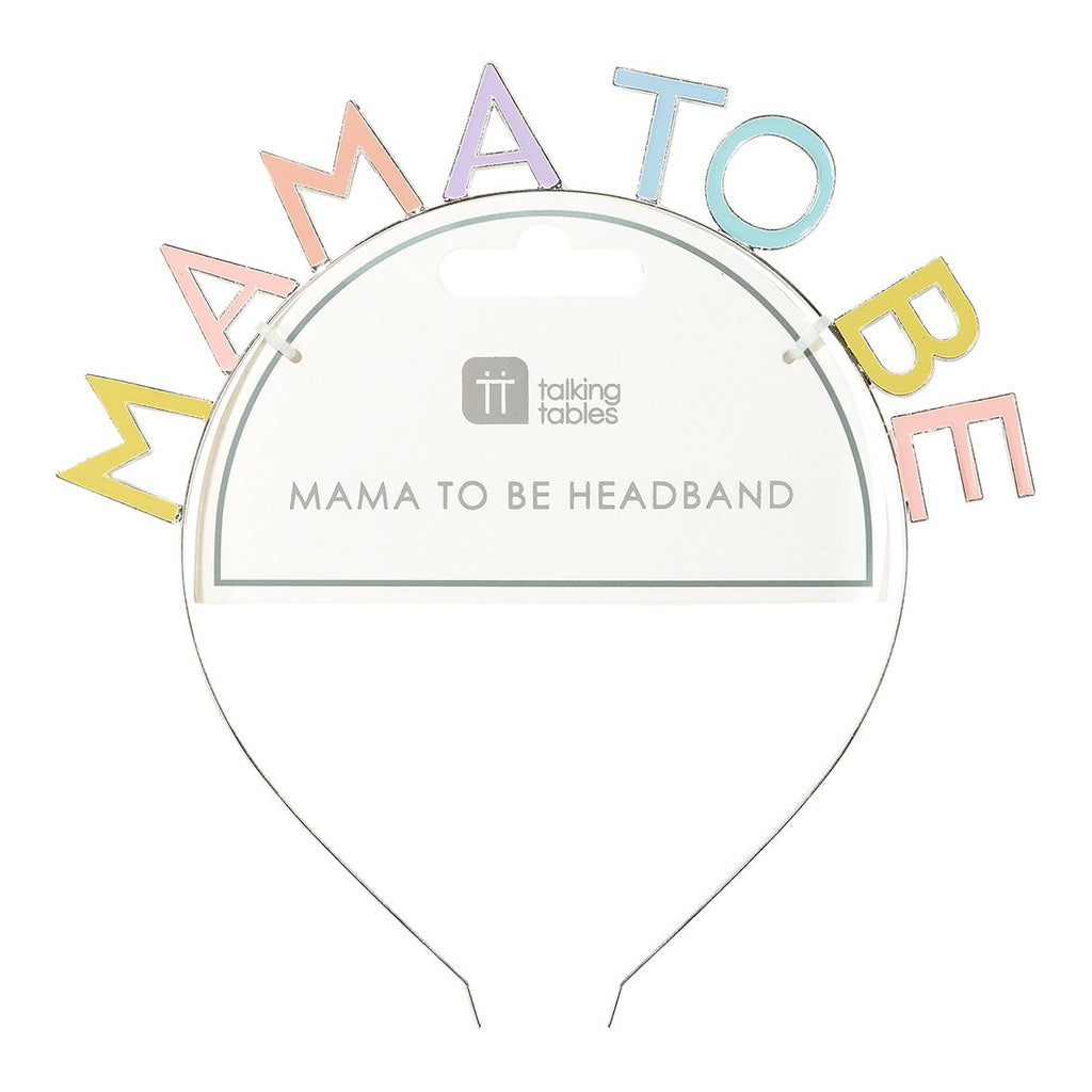 Born To Be Loved Hey Mama Headband - Talking Tables US Public